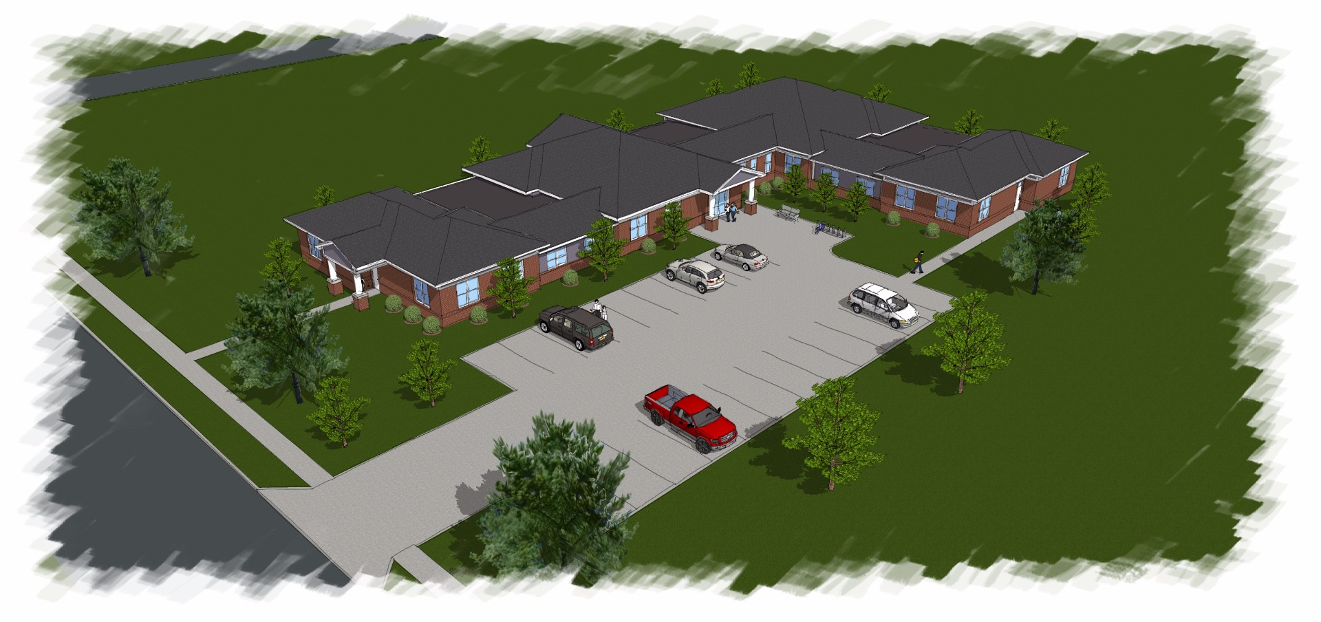 Apple Tree Apartments Rendering