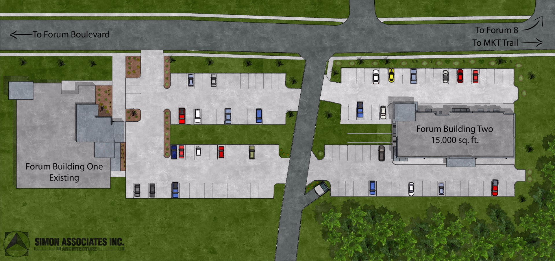 Medical Office Site Rendering
